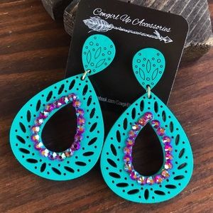 Jewelry - Turquoise Statement Earrings